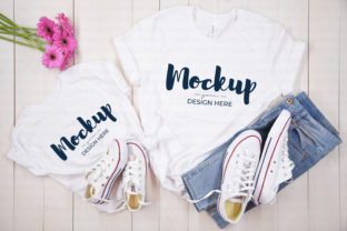 Mother Daughter White Shirt Mockup Graphic Product Mockups By MyMockupStudio