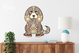 Print on Demand: Multilayer Cut File PUPPY for Wood Cut Graphic 3D SVG By LaserCutano 2