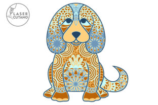 Print on Demand: Multilayer Cut File PUPPY for Wood Cut Graphic 3D SVG By LaserCutano 3