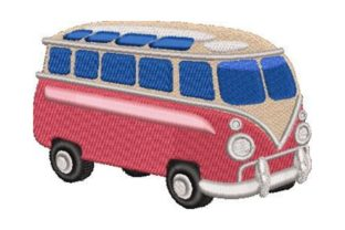 Nostalgic Camper Van Vacation Embroidery Design By Embroidery Designs