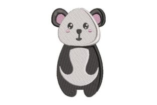 Panda Kawaii Design Wild Animals Embroidery Design By Embroidery Designs