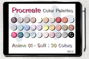 Print on Demand: Procreate Color Palettes | Anime 01 Graphic Add-ons By 18CC