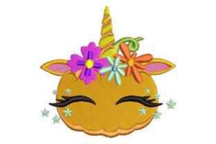 Pumpkin Unicorn Fairy Tales Embroidery Design By Embroidery Designs