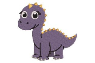 Purple Dinosaur Design Dinosaurs Embroidery Design By Embroidery Designs