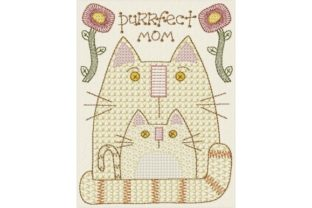 Purrfect Mom Mother's Day Embroidery Design By Sew Terific Designs