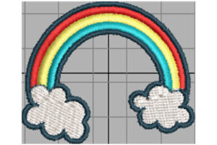 Print on Demand: Rainbow Lucky Charm Wedding Embroidery Design By Dizzy Embroidery Designs
