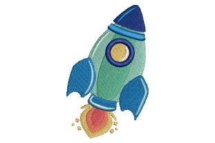 Rocket Robots & Space Embroidery Design By Embroidery Designs