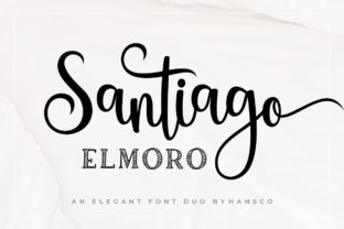 Print on Demand: Santiago Elmoro Script & Handwritten Font By HansCo