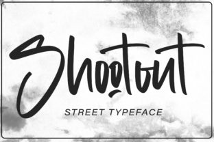 Print on Demand: Shootout Script & Handwritten Font By Arendxstudio