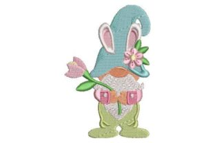 Spring Gnome Spring Embroidery Design By Embroidery Designs