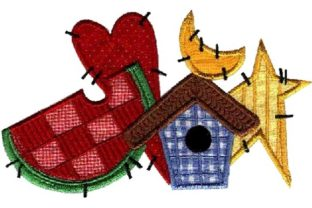 Summer Applique Farm & Country Embroidery Design By Sew Terific Designs