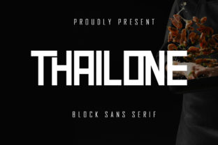 Print on Demand: Thailone Display Font By Skiiller Studio