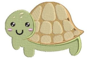 Turtle Kawaii Peces y mariscos Diseños de bordado Por Embroidery Designs