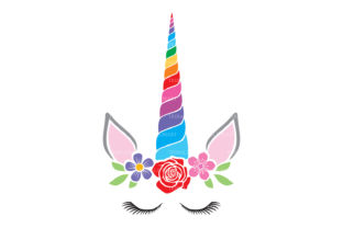 Unicorn with Flowers Design Graphic Illustrations By TribaliumArt