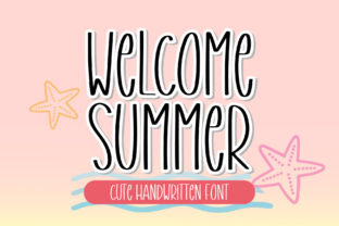 Print on Demand: Welcome Summer Script & Handwritten Font By AquariiD
