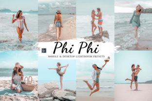 Print on Demand: 10 Phi Phi Mobile and Lightroom Graphic Actions & Presets By 3Motional
