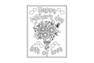Mother's Day Coloring Page Mother's Day Craft Cut File By Creative Fabrica Crafts