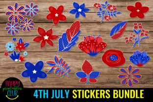 4th July Stickers Bundle- July 4th Graphic Crafts By Happy Printables Club