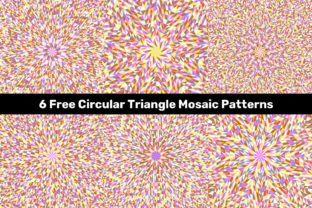 6 Free Circular Triangle Mosaic Patterns Graphic Patterns By davidzydd