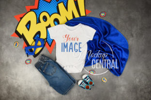 Baby Superhero Onepiece Mockup Graphic Product Mockups By Mockup Central