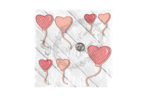 Balloon Heart Single Accessories Embroidery Design By Yours Truly Designs