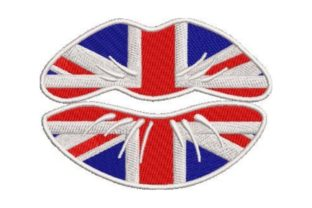 British Lips Europe Embroidery Design By Embroidery Designs