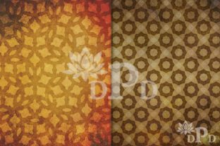 Print on Demand: Brown Rustic Shapes Digital Paper Graphic Backgrounds By digitalpaperdelights 2