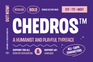 Print on Demand: Chedros Display Font By adilbudianto