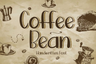 Print on Demand: Coffee Bean Script & Handwritten Font By boogaletter