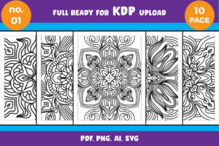 Print on Demand: Coloring Book Kdp Interior Mandala Graphic Coloring Pages & Books Adults By NGISED