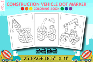 Construction Vehicle Dot Marker Vol. 3 Graphic KDP Interiors By Vibgyor