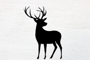 Print on Demand: Deer Silhouette Graphic Illustrations By rayan