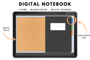 Digital Notebook Graphic Add-ons By Planning Vault