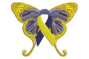 Down Syndrome Awareness Butterfly Awareness Embroidery Design By Embroidery Designs