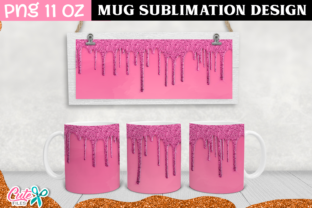 Drip Sublimation Mug 11 Oz Graphic Print Templates By Cute files