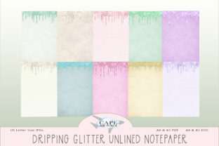 Print on Demand: Dripping Glitter Notepaper Graphic KDP Interiors By CapeAirForce
