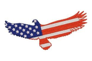 Eagle with American Flag Pattern North America Embroidery Design By Embroidery Designs