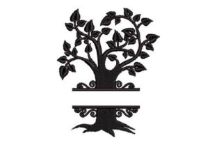 Family Tree Monogram Forest & Trees Embroidery Design By Embroidery Designs
