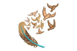 Feather and Birds Birds Embroidery Design By Embroidery Designs