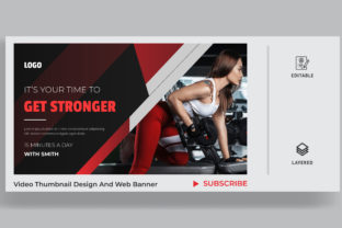 Fitness Thumbnail Design for Your Video. Graphic Site Templates By sohagmiah_0