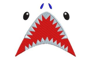 Floating Shark Face Wild Animals Embroidery Design By Embroidery Designs