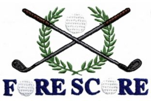 Fore Score Golf Sports Embroidery Design By Sew Terific Designs