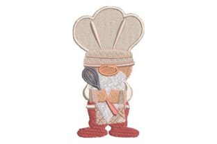 Gnome Chef Kitchen & Cooking Embroidery Design By Embroidery Designs