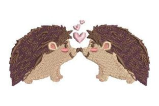 Hedgehog Love Woodland Animals Embroidery Design By Embroidery Designs