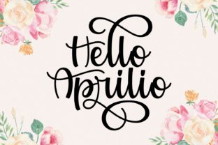 Print on Demand: Hello Aprilio Script & Handwritten Font By Keithzo (7NTypes)