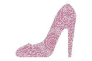 High Heel Shoe Clothing Embroidery Design By Embroidery Designs