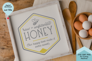 Print on Demand: Honey Label, Sweet Svg Summer Sign Bee Graphic Crafts By Lettershapes