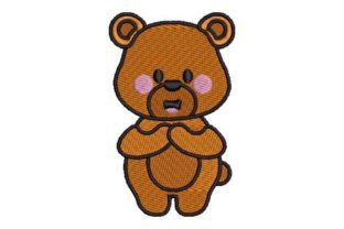 Kawaii Style Bear Baby Animals Embroidery Design By Embroidery Designs