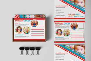 Kids Care Center PostCard Graphic Print Templates By MintDesign