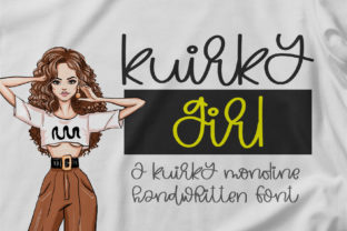 Print on Demand: Kuirky Girl Script & Handwritten Font By BitongType